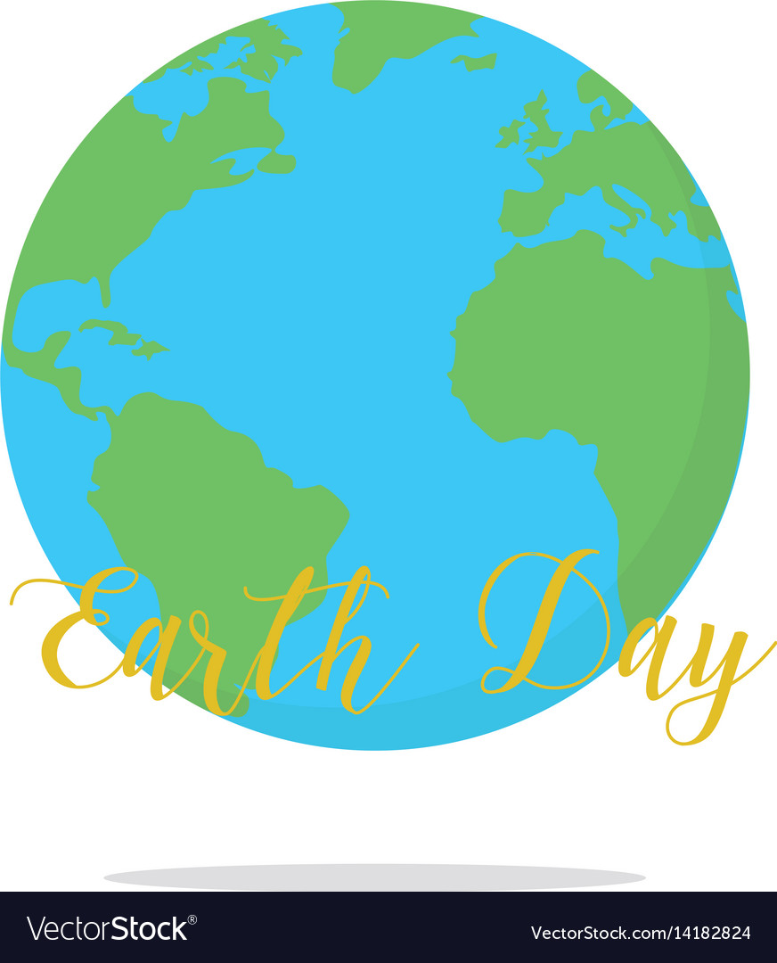 Flat Earth Map Download.Flat Earth Day Card Earth Royalty Free Vector Image