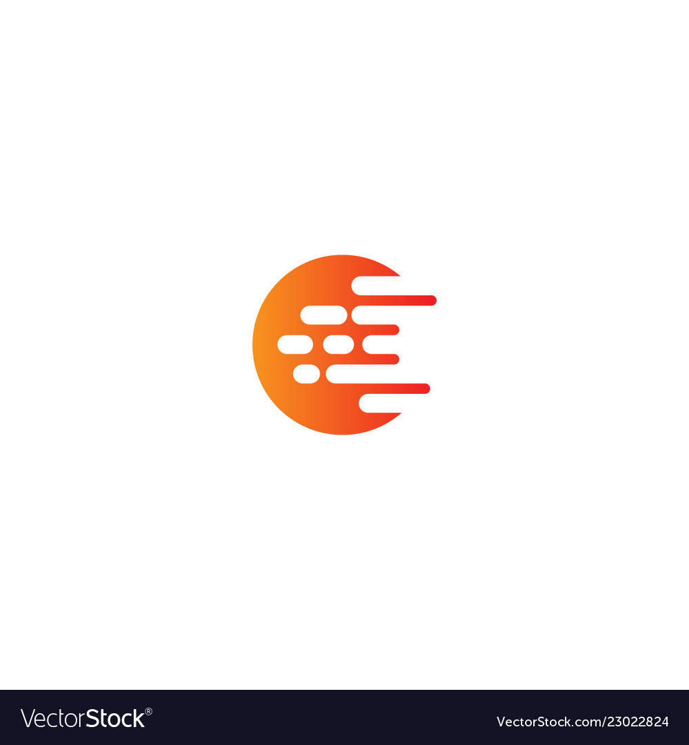Round abstract technology design logo