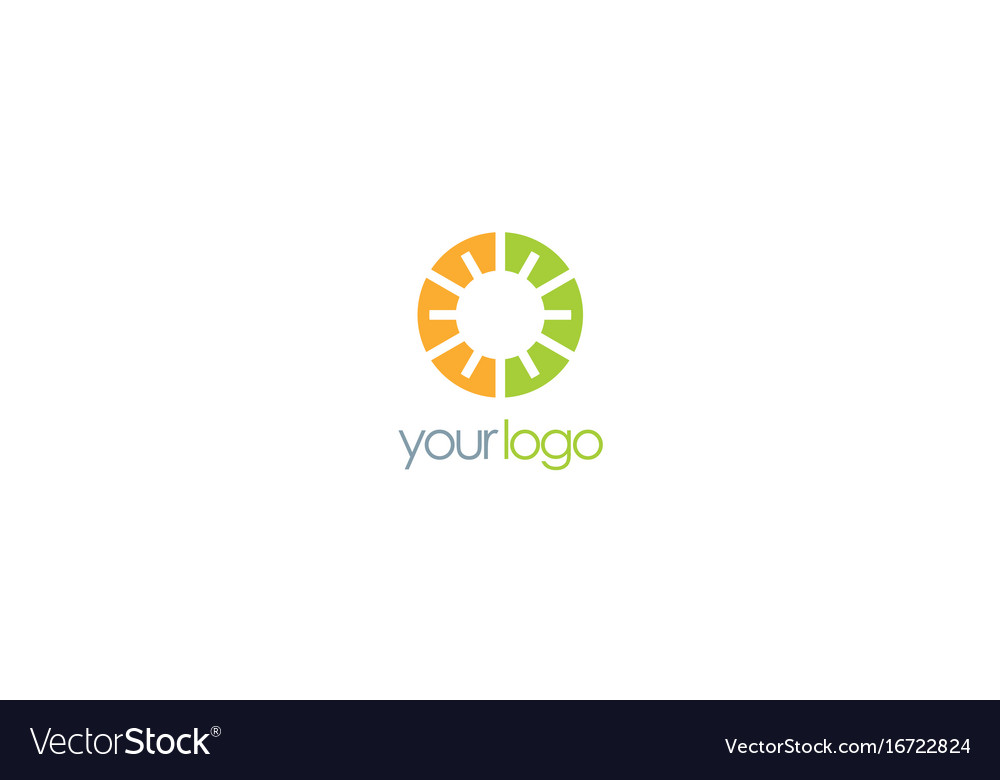 Round eco geometry logo