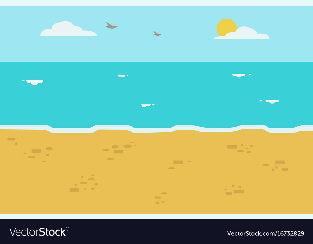 Beautiful beach with wave and sky background