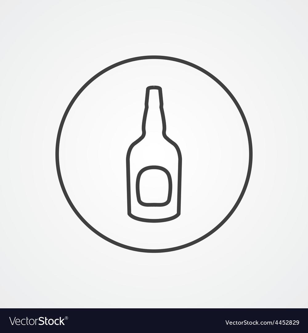 Beer bottle outline symbol dark on white