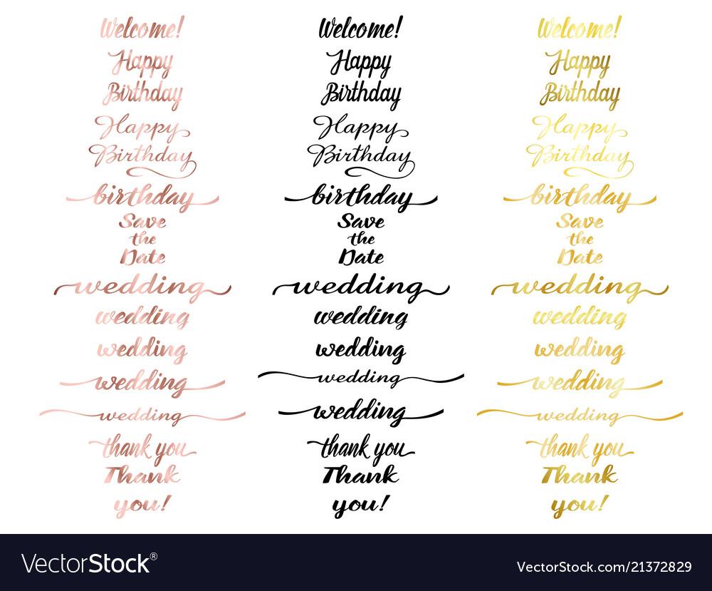 Greeting lettering set