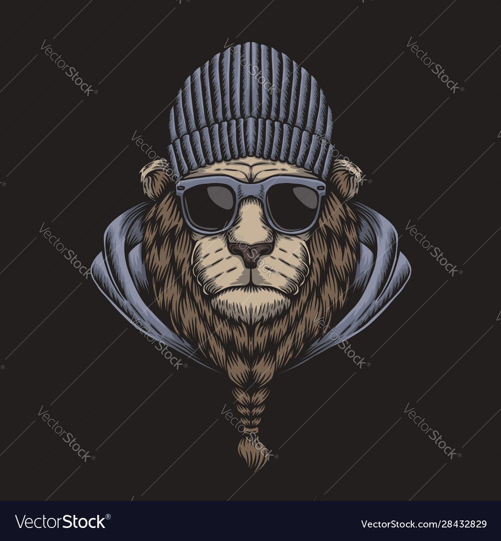 Lion head eyeglasses