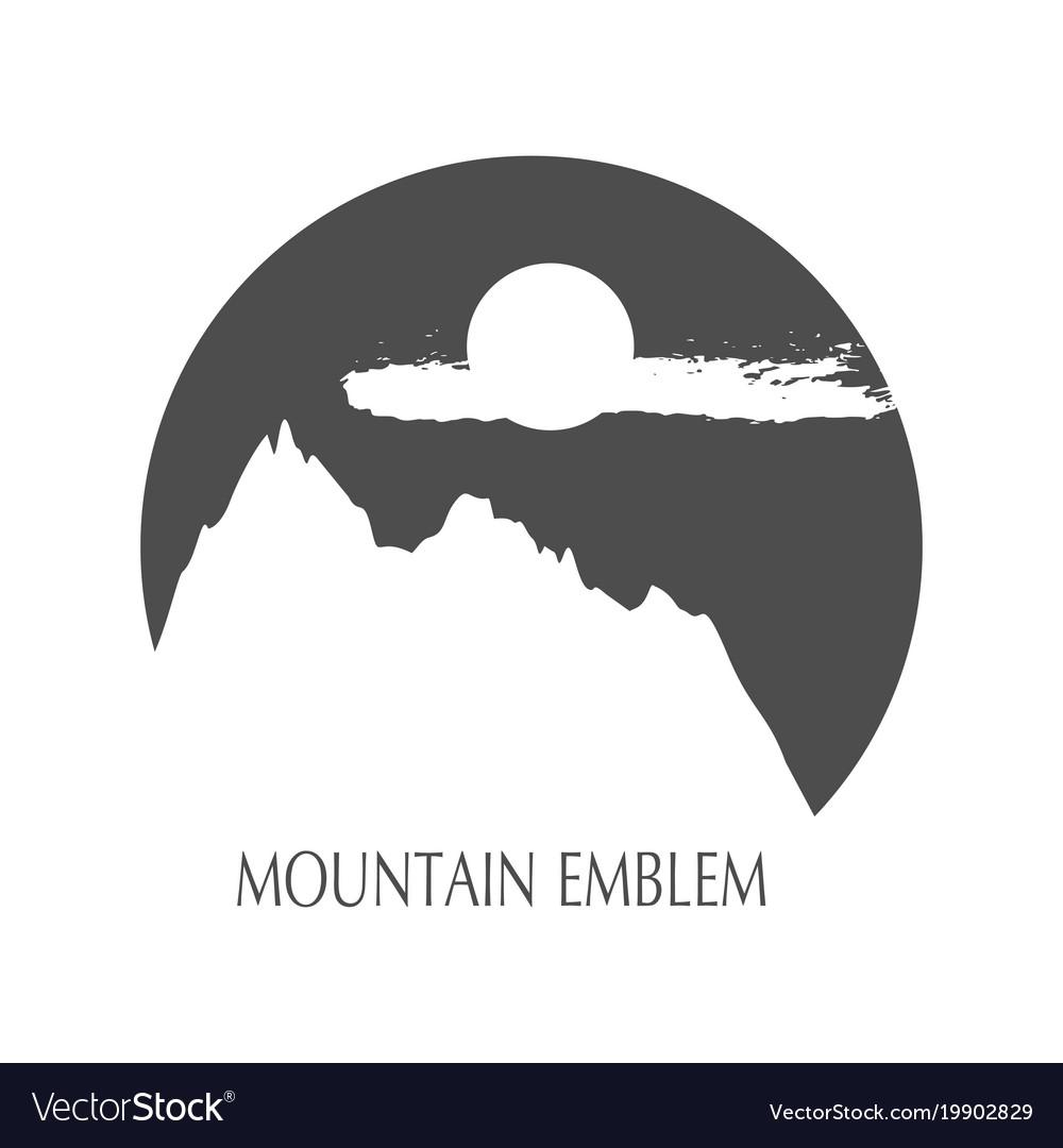 Mountain emblem design