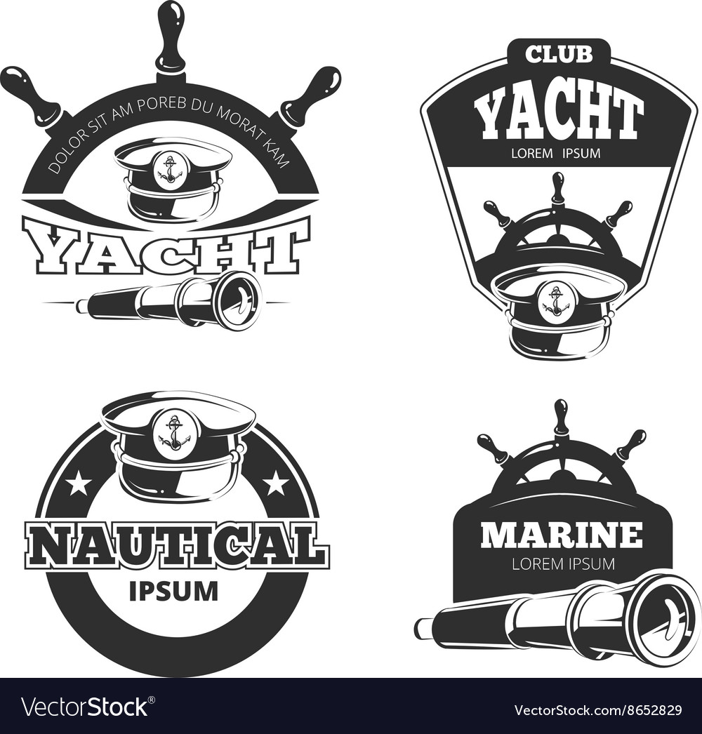 Nautical signs labels and badges