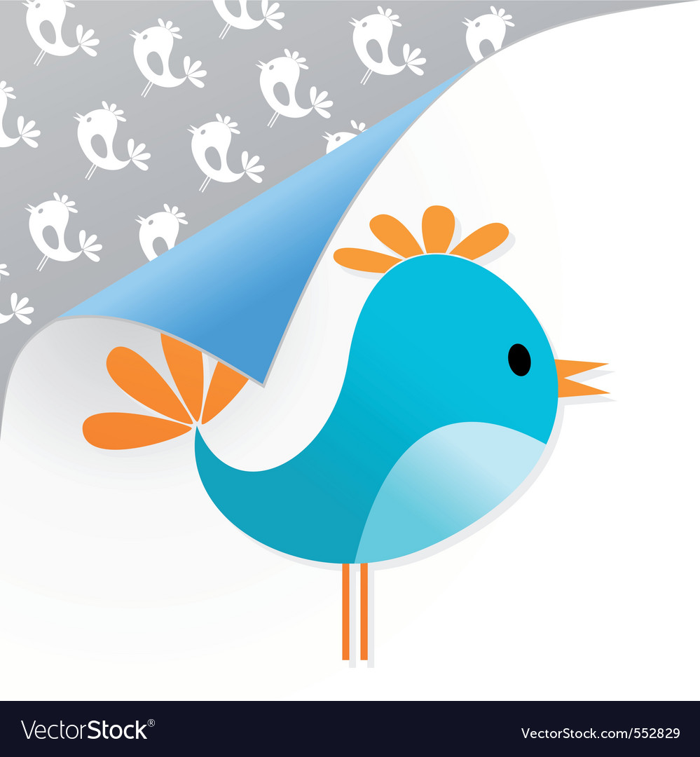Small dark blue bird on a white background a vecto vector image