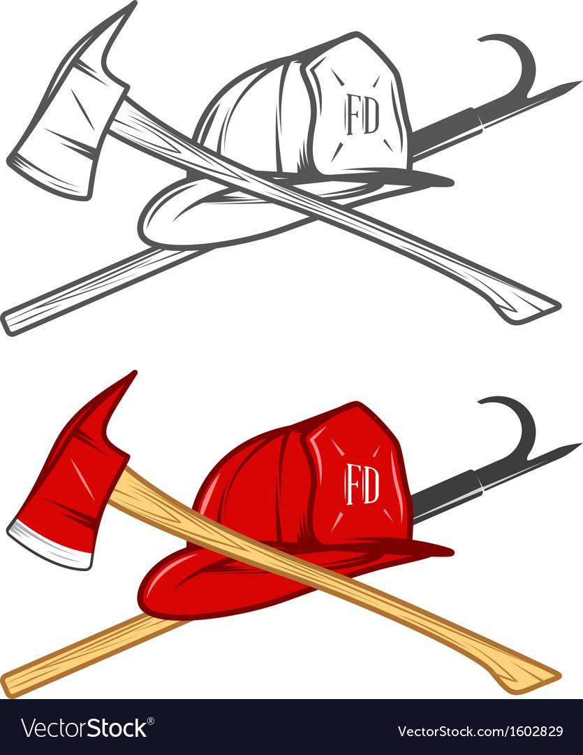 Vintage firefighter sign vector image