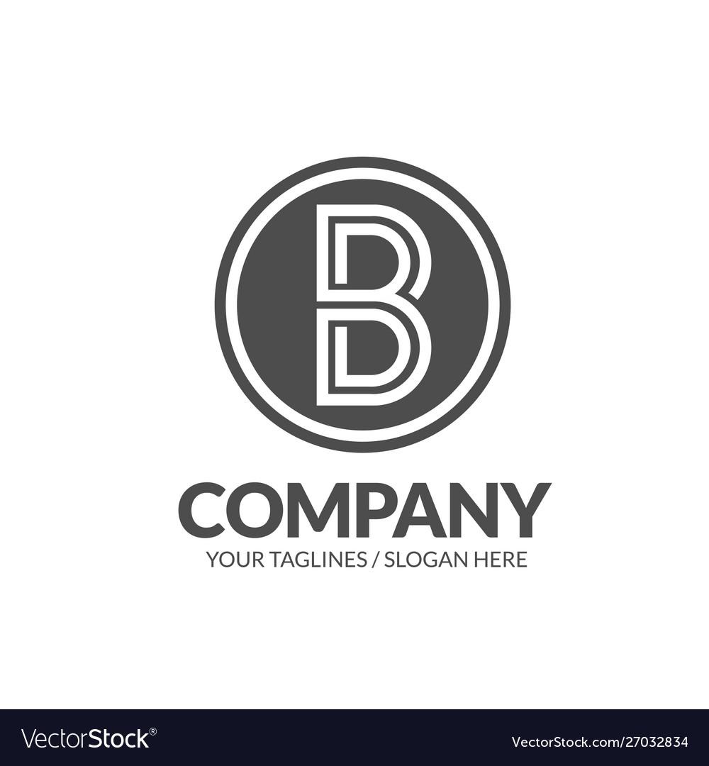 B letter circle