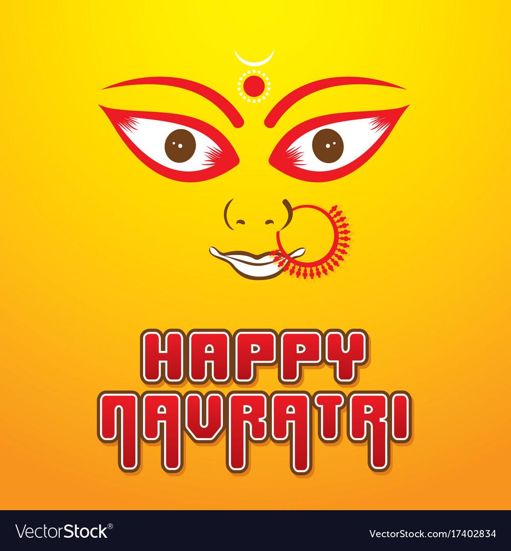 Happy navratri festival poster desgin
