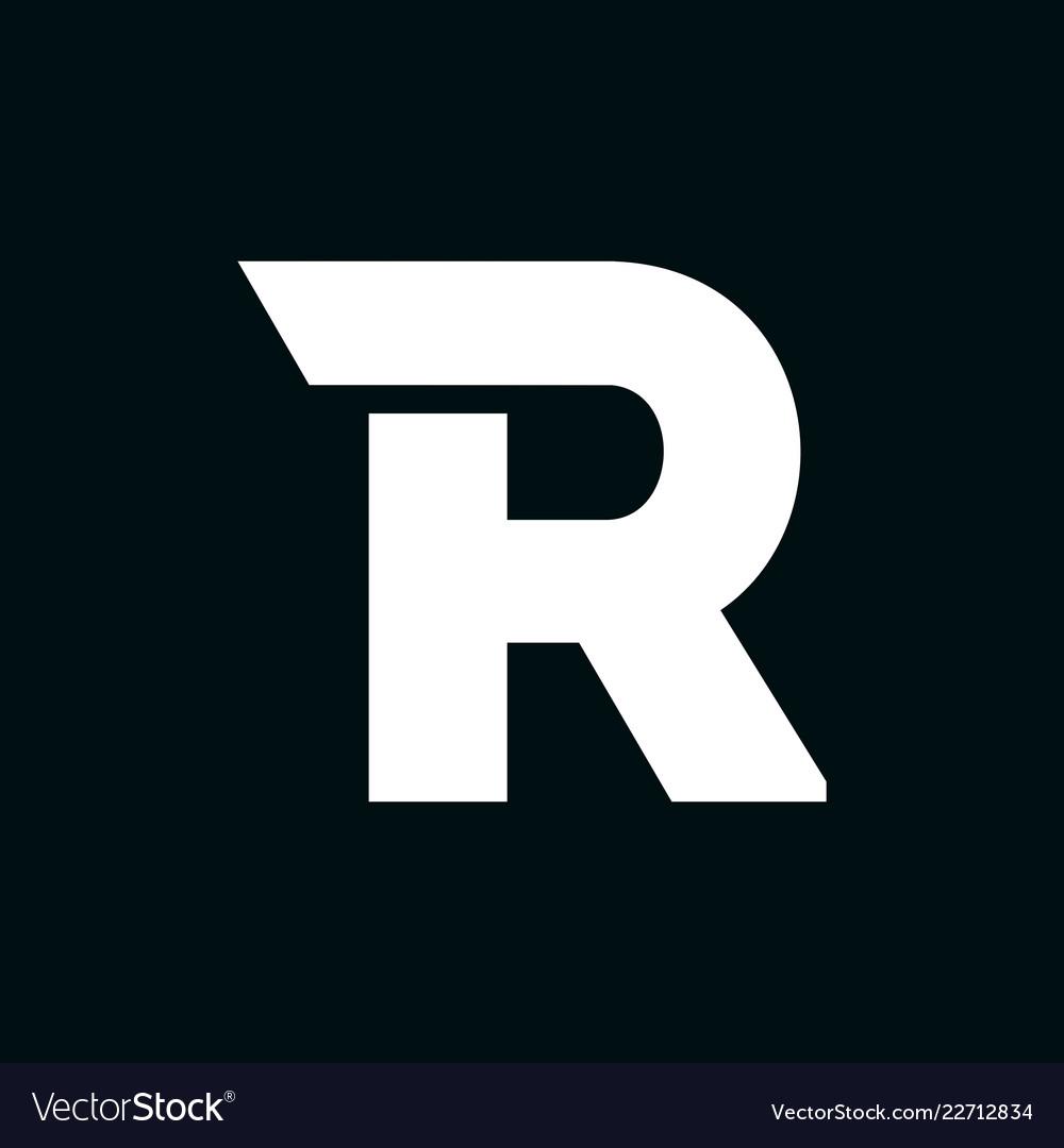 Logo letter r wing