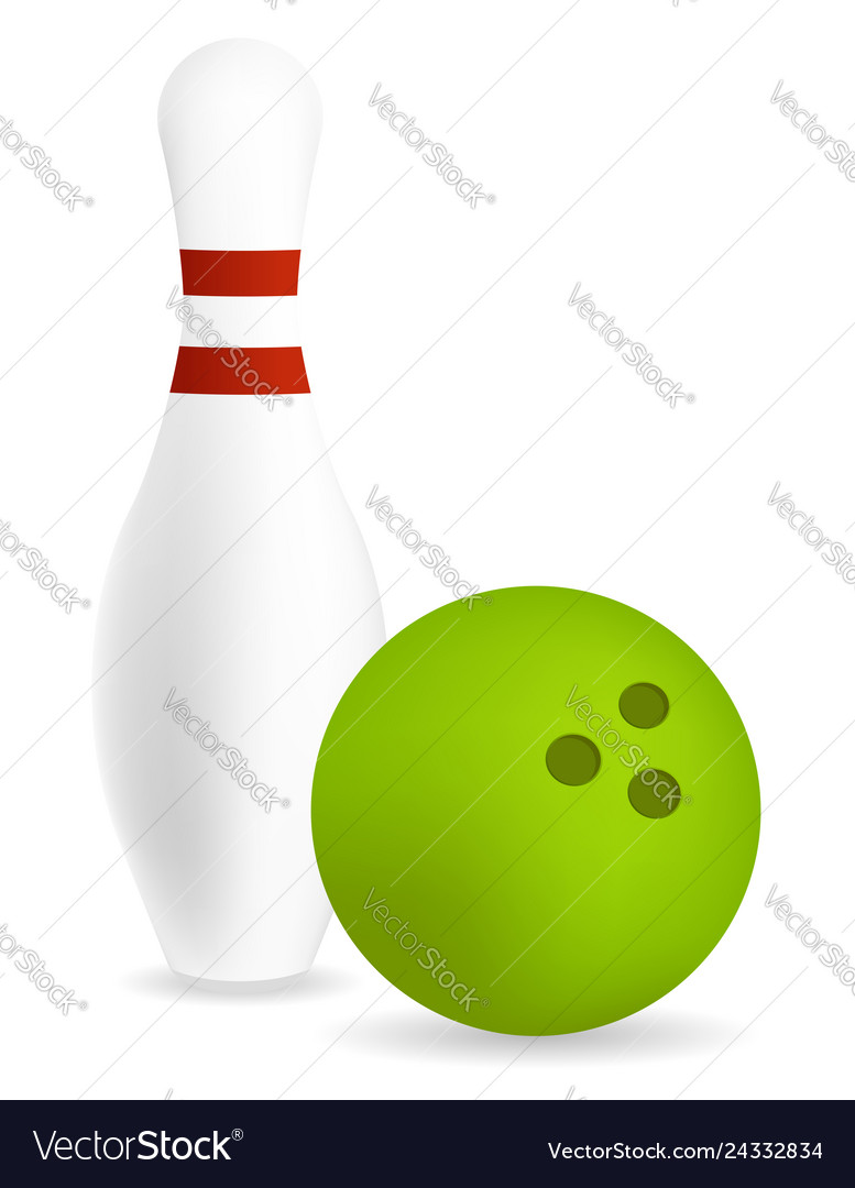 Pin with bowling ball
