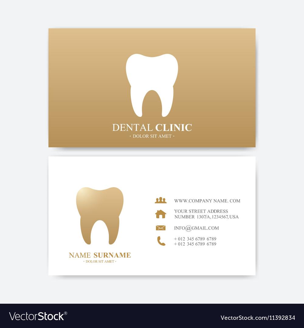 Premium business card print template visiting vector image colourmoves