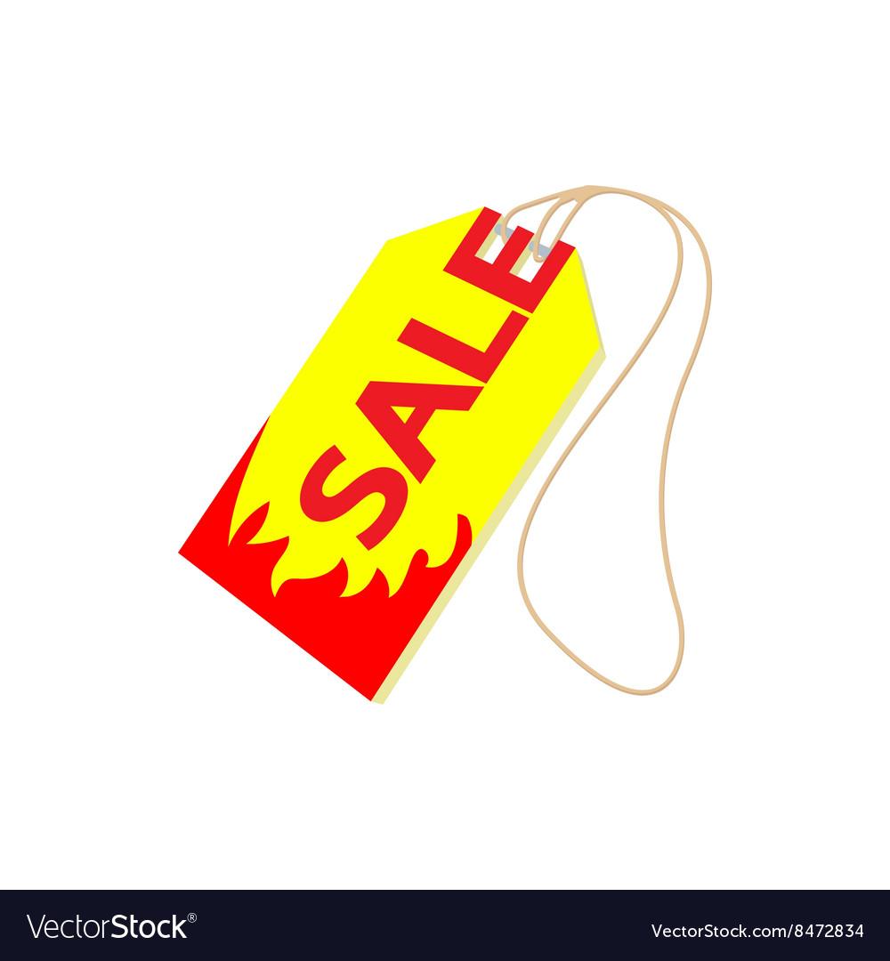 Sale tag icon cartoon style