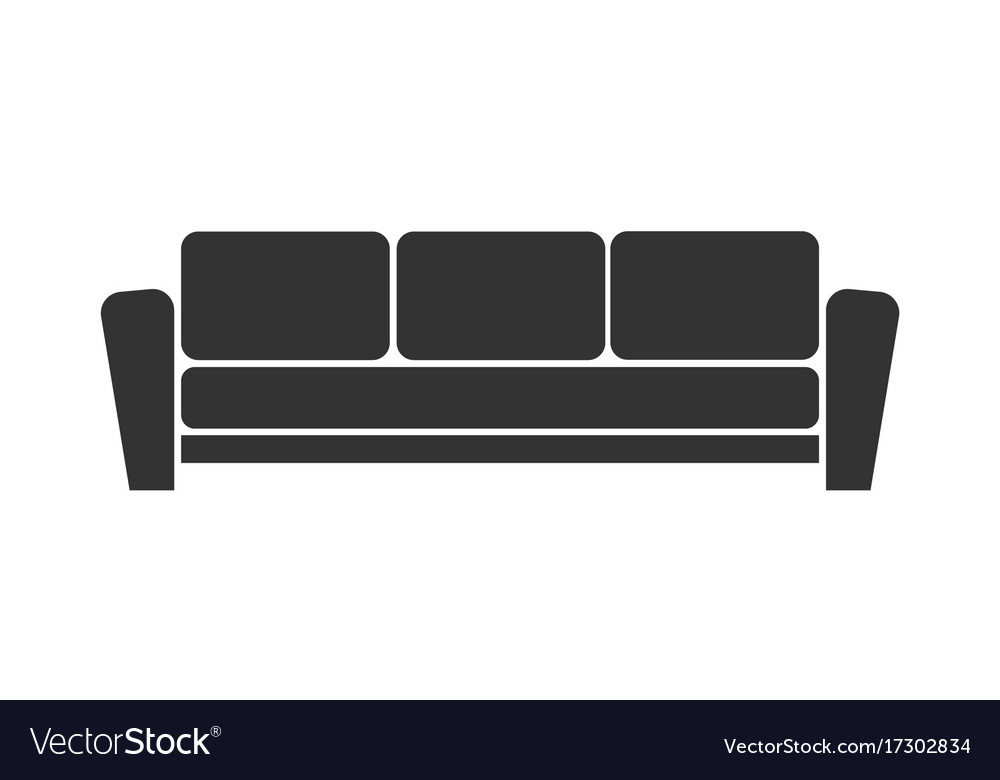 Sofa Icon On White Background Royalty Free Vector Image