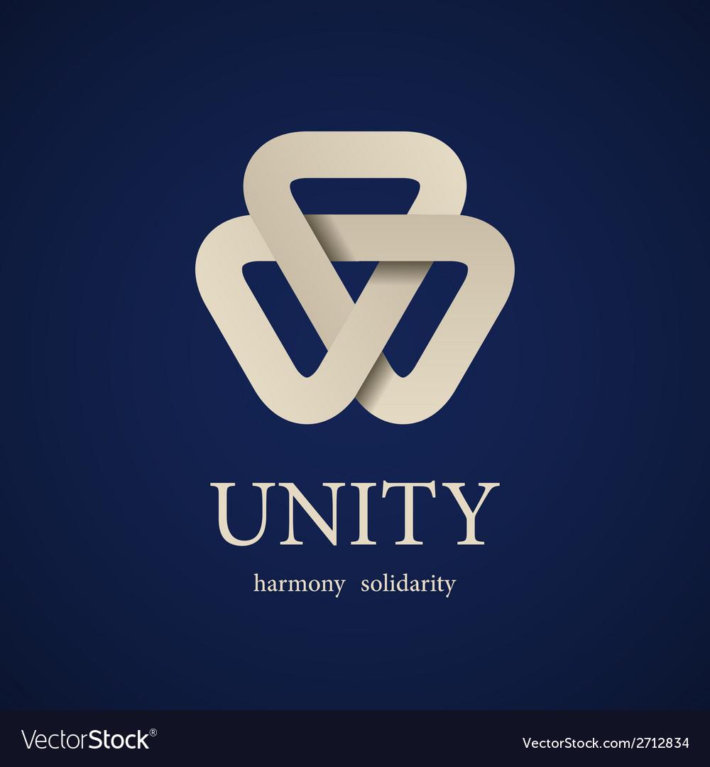 Unity paper triangle icon design template