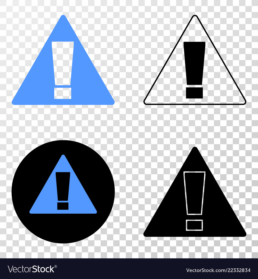 Warning eps icon with contour version