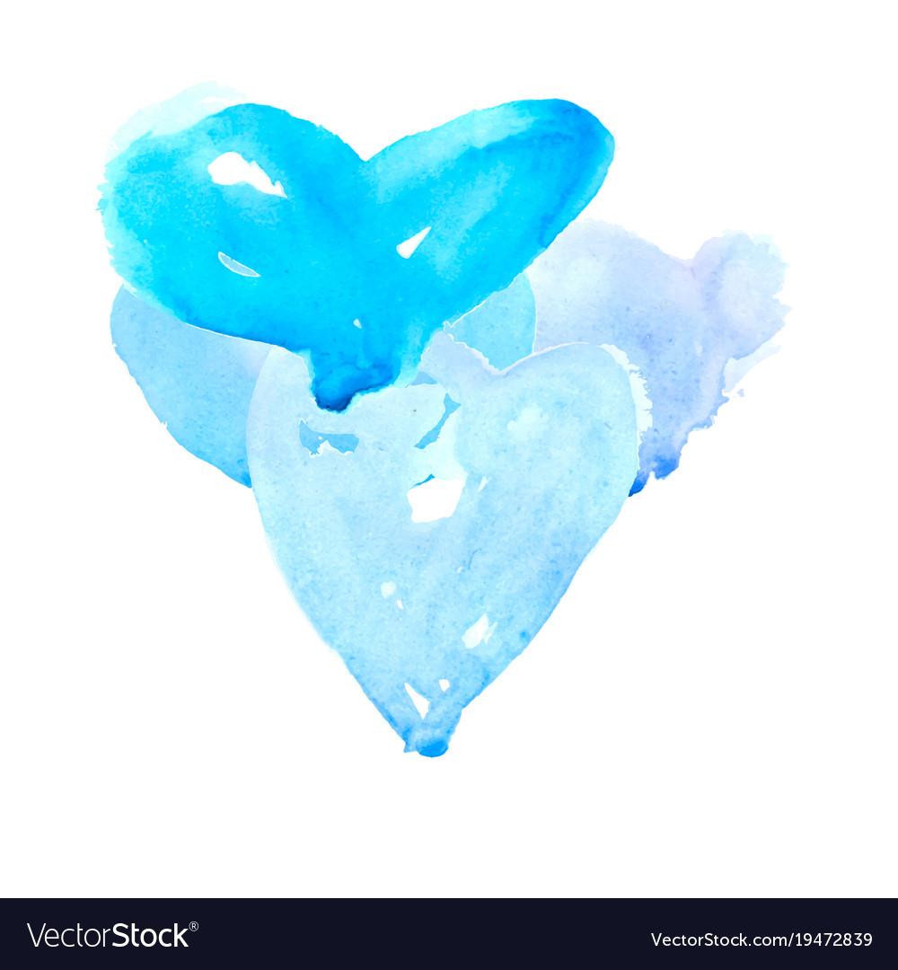 Blue hearts symbol vector image