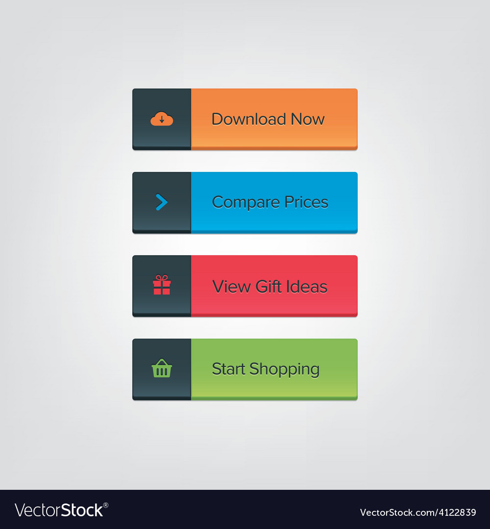 Call To Action Button Set Royalty Free Vector Image