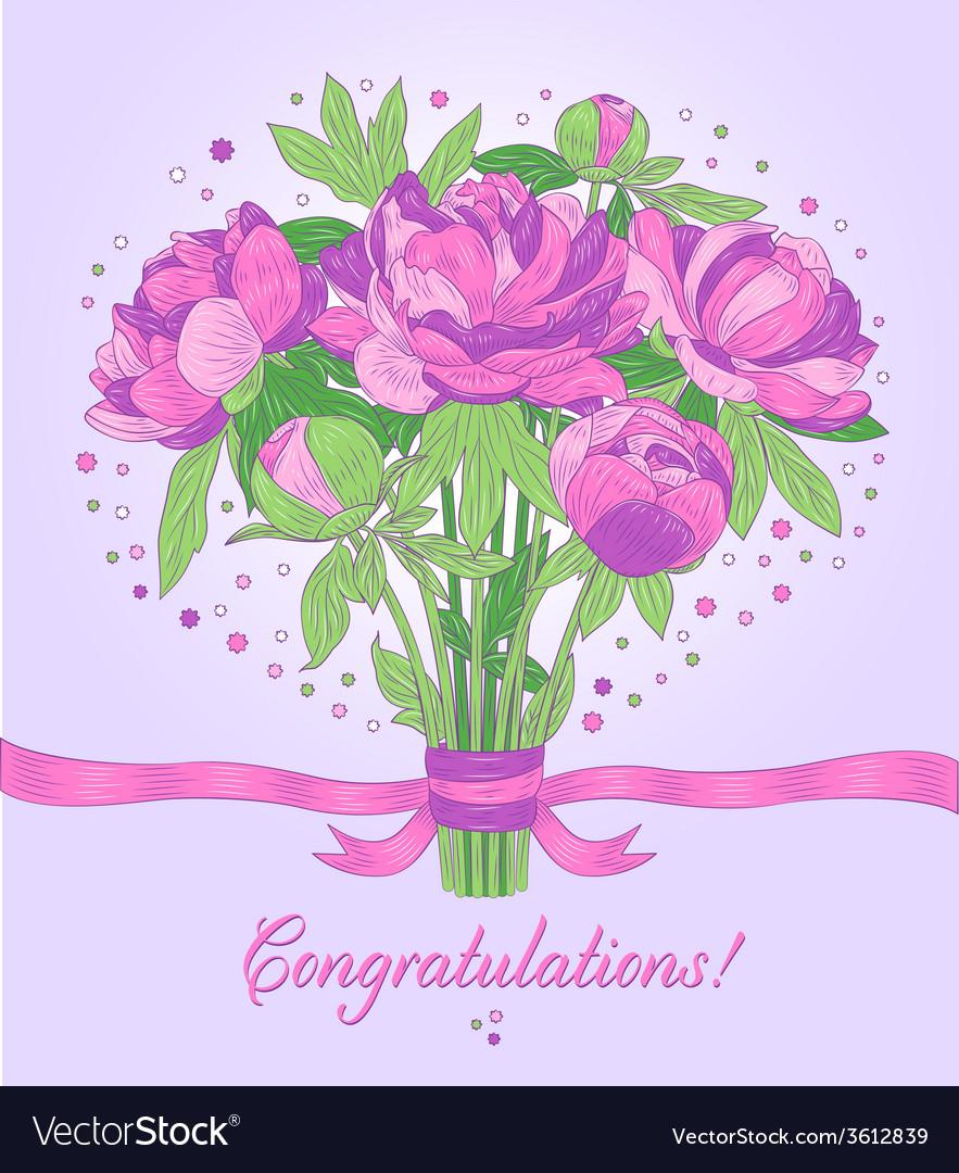 Congratulations Card Royalty Free Vector Image
