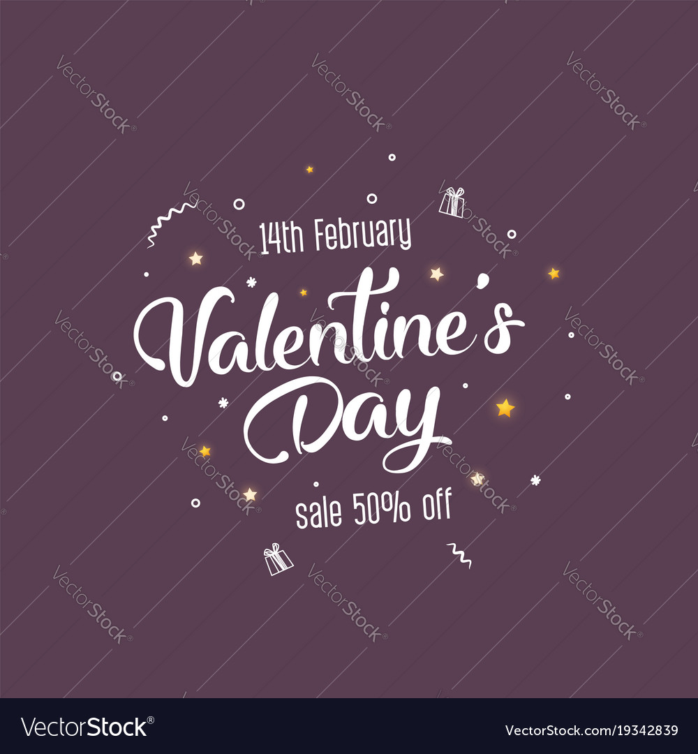 Creative flyer with text happy valentines day