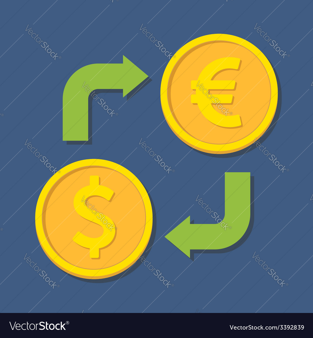 Dollar And Euro Royalty Free Vector Image