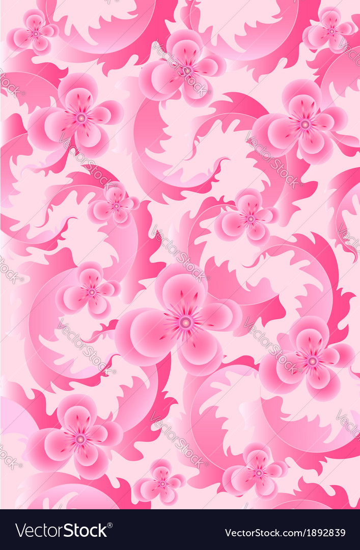 Delicate pink flowers on light pink background