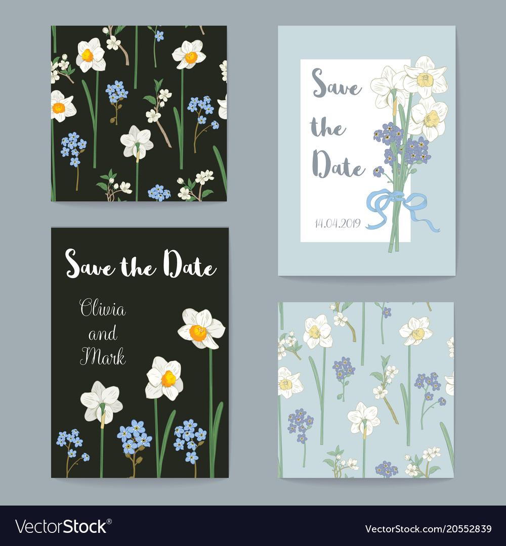 Floral greeting cards set