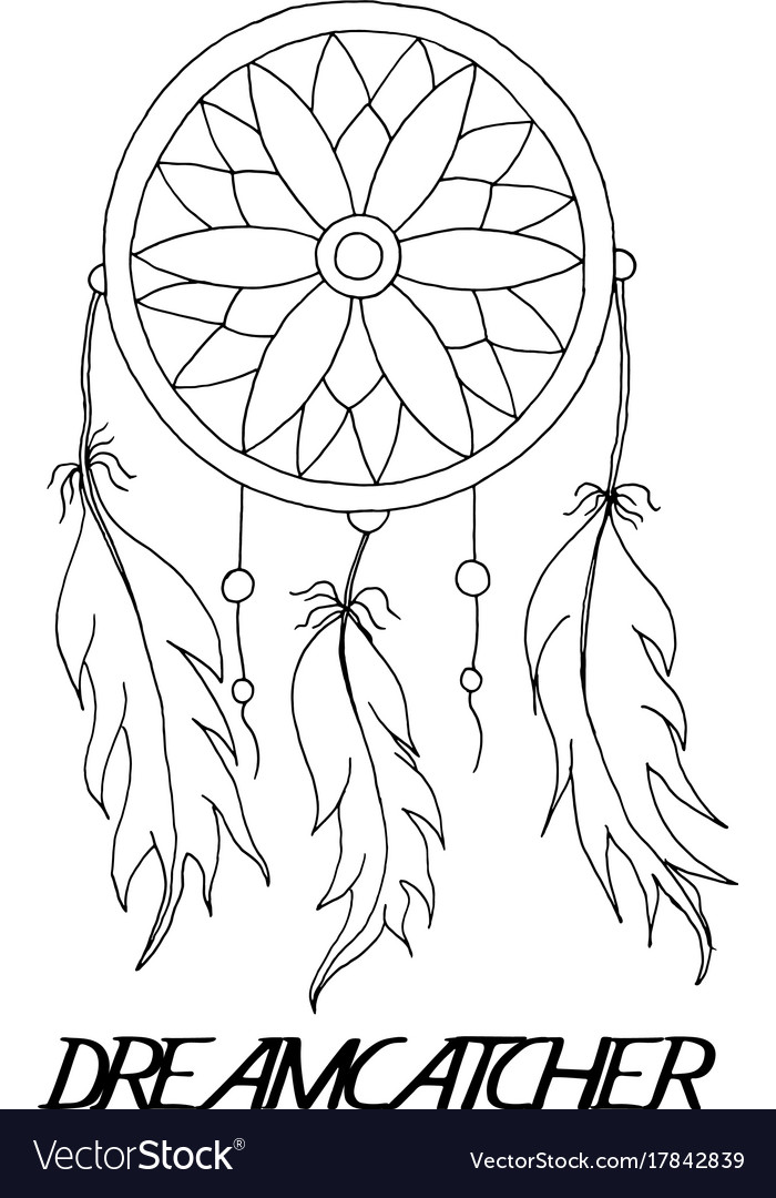 Hand To Draw A Dreamcatcher Royalty Free Vector Image Best Pictures Of Dream Catchers To Draw