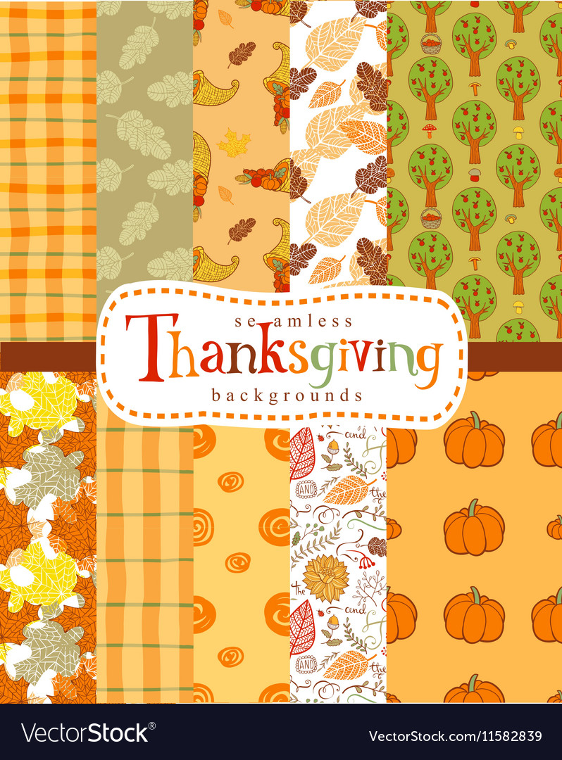Seamless thanksgiving backgrounds royalty free vector image seamless thanksgiving backgrounds vector image voltagebd Gallery