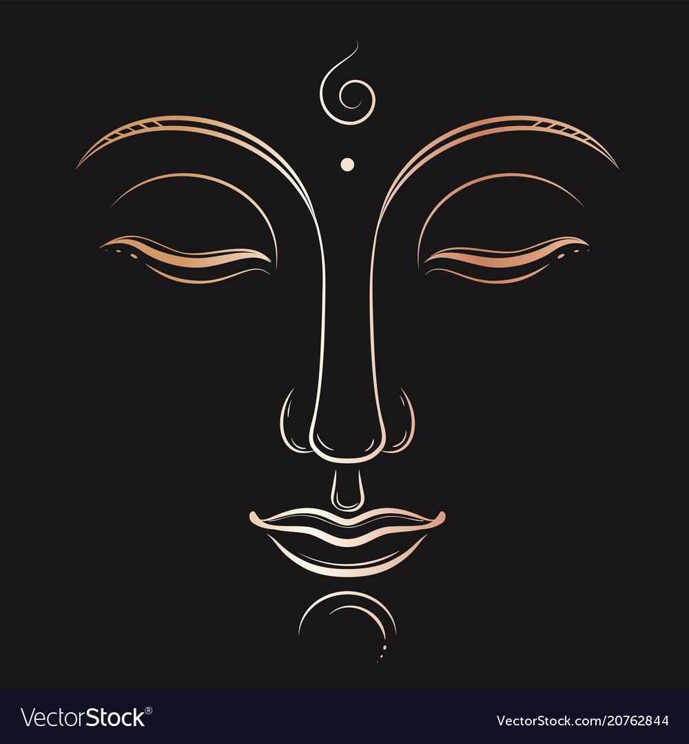 Buddha face art buddhism yoga sacred