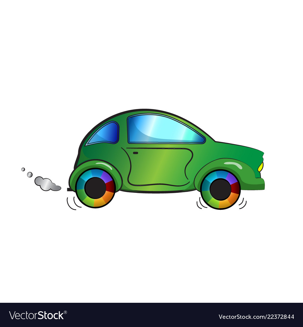 Cartoon Color Car On White Background Royalty Free Vector