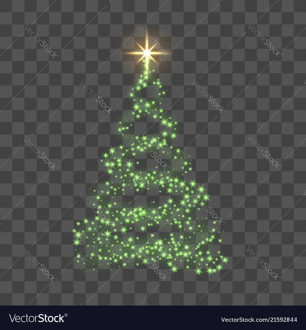 Christmas Tree Transparent Background.Christmas Tree On Transparent Background Green