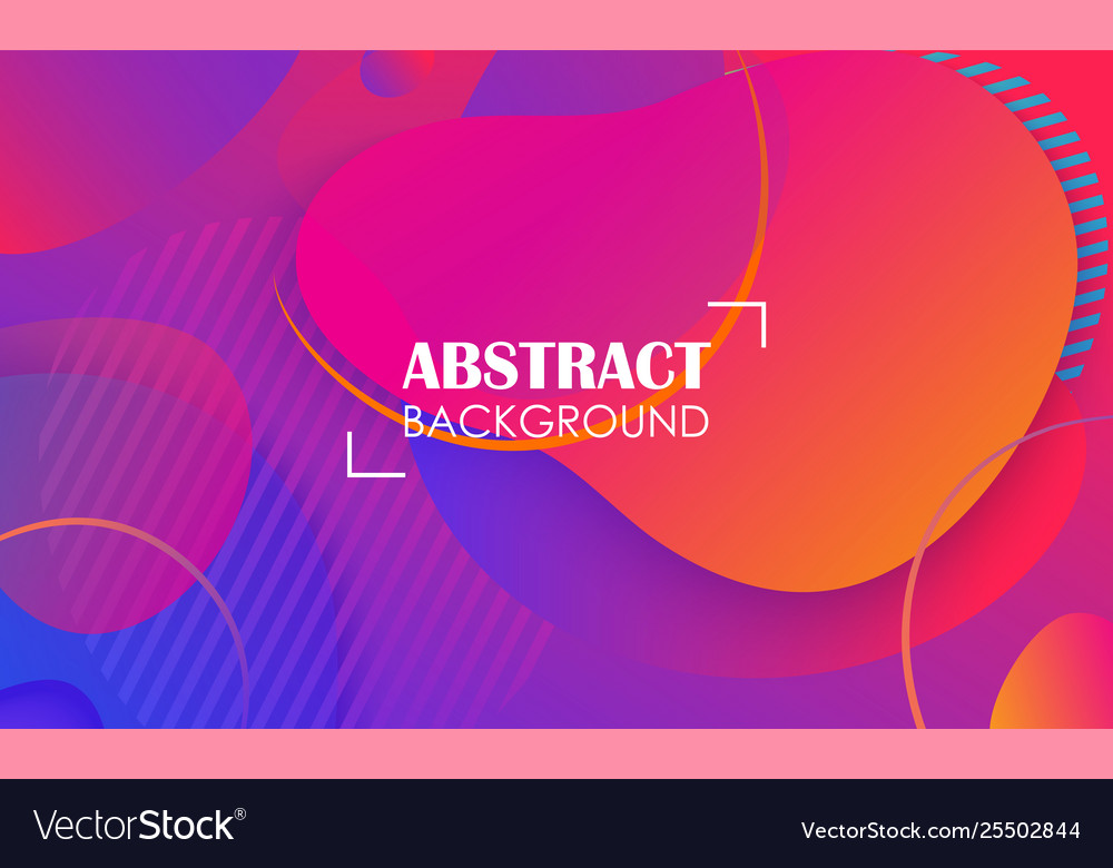 Colorful geometric fluid shapes banner abstract