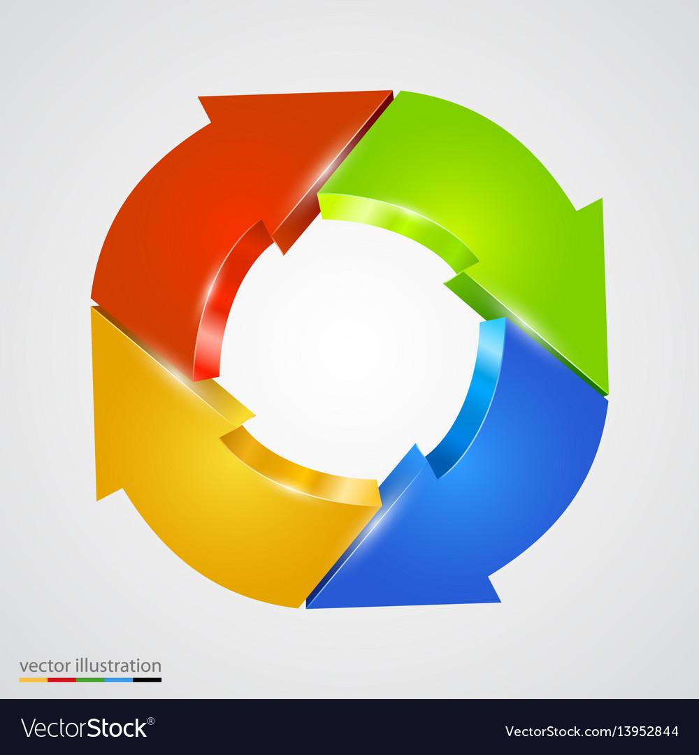Creative arrows circle refresh sign