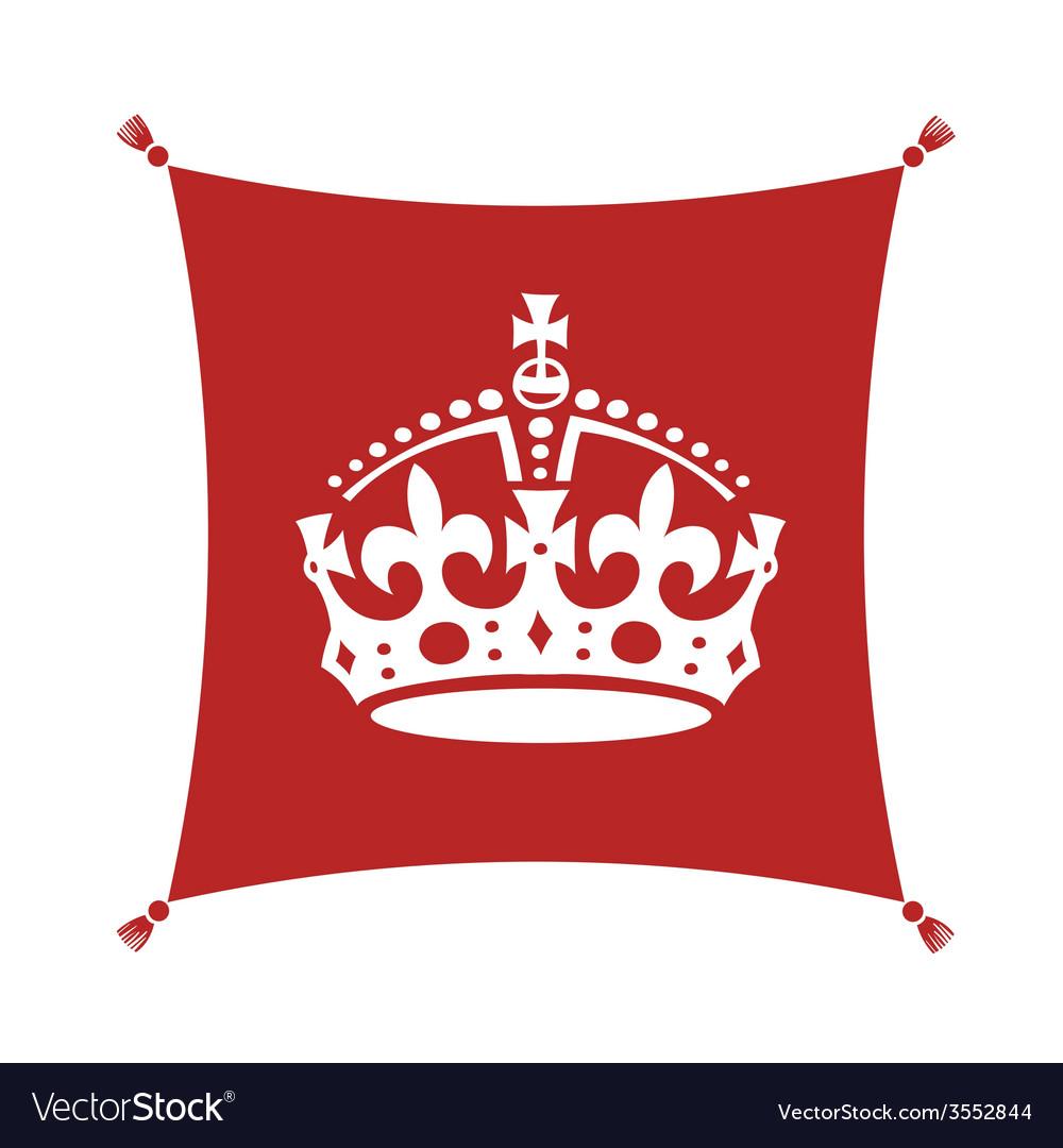 Crown on cushion