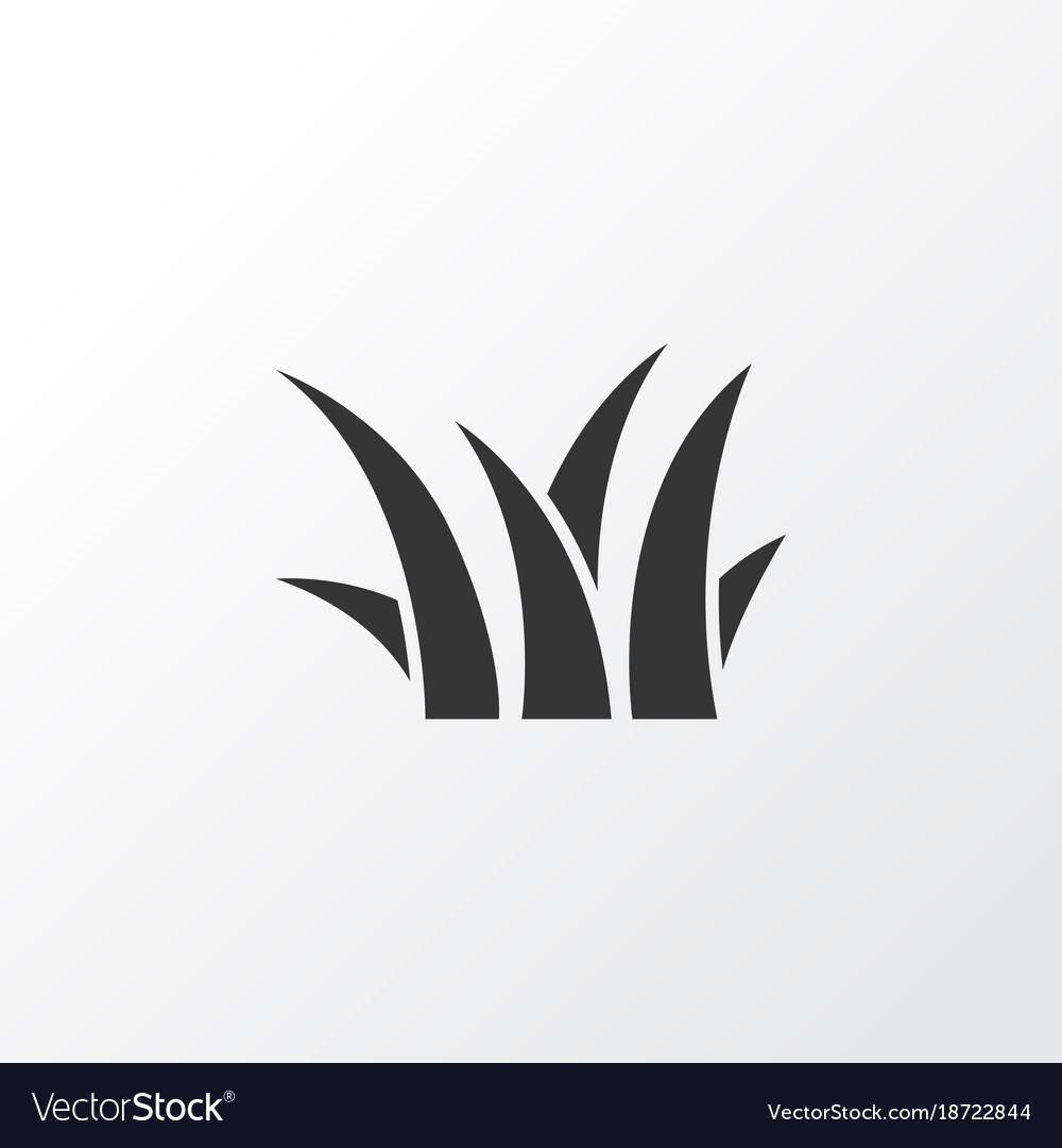 grass icon symbol premium quality isolated sedge vector image vectorstock
