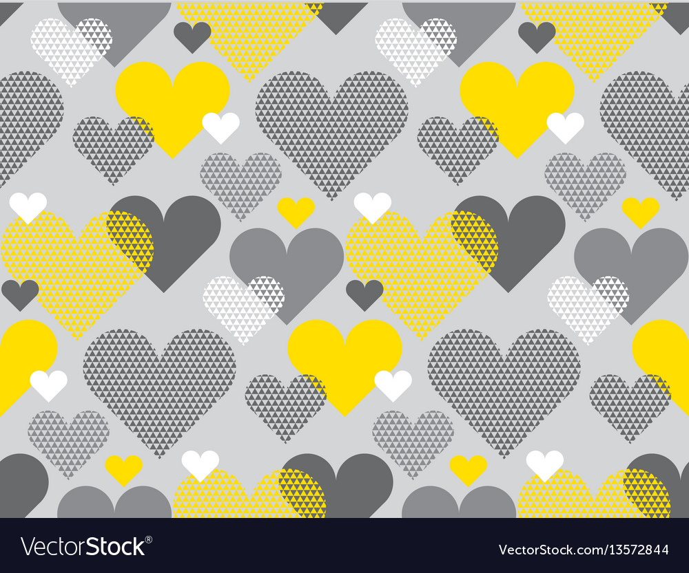 Gray and yellow color love concept icon repeatable