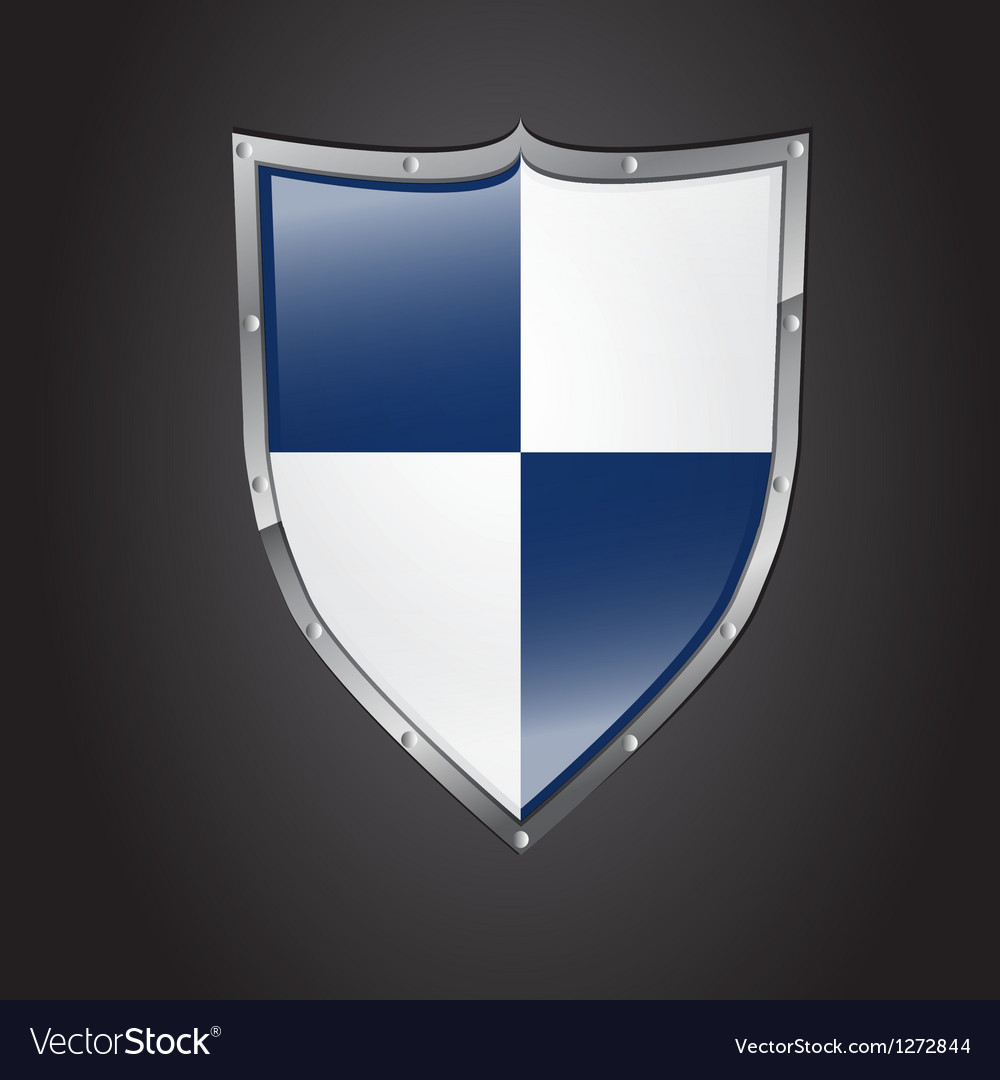 Icon of shield with glossy affect