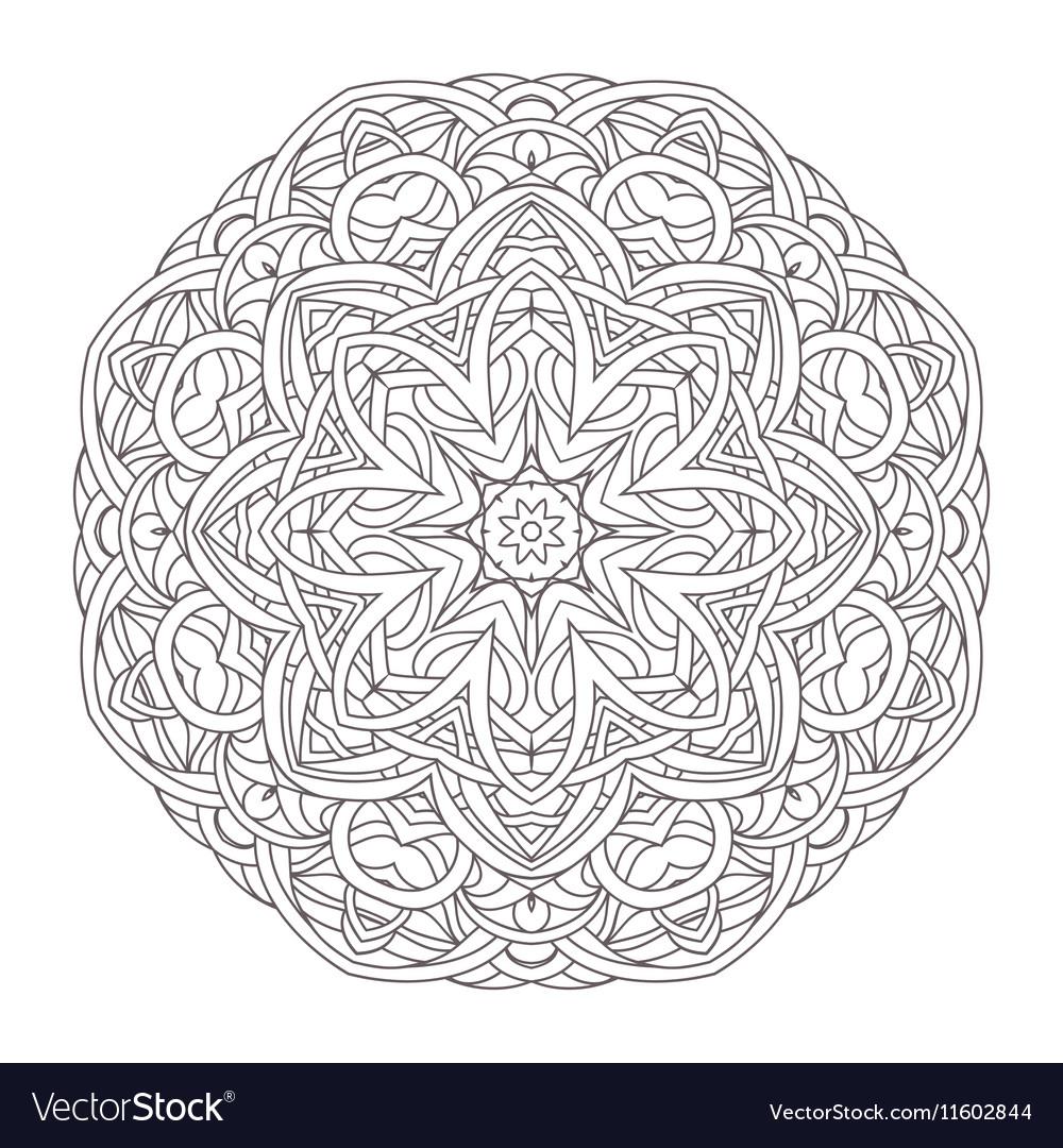 Mandala Vintage decorative Royalty Free Vector Image