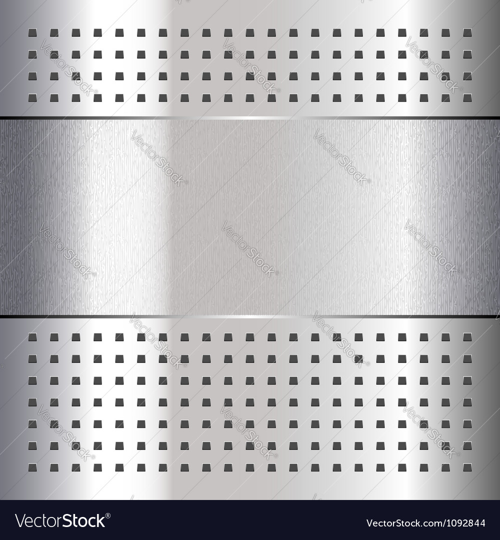 Scratched on chrome metal background 10eps