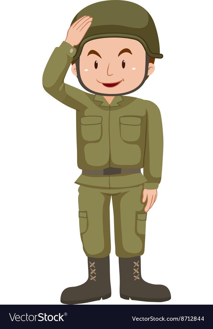 Soldier in green uniform