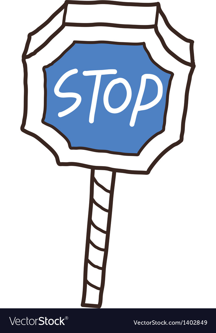 A stop sign stand on
