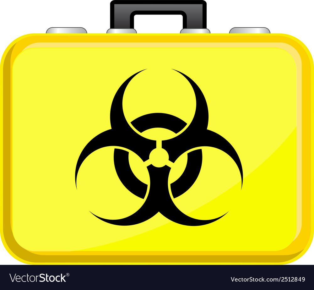 Bag With Biohazard Symbol Royalty Free Vector Image