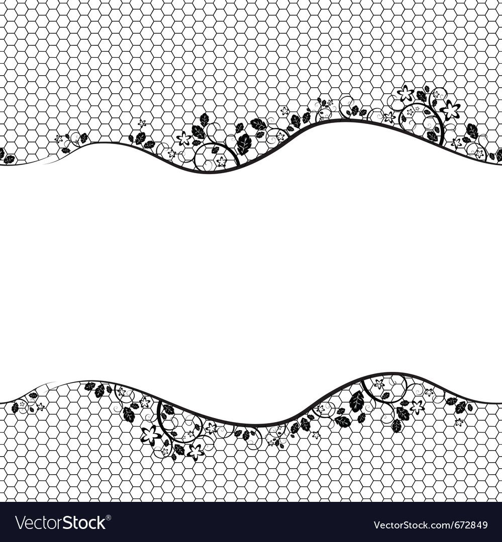 Black lace on white background seamless background
