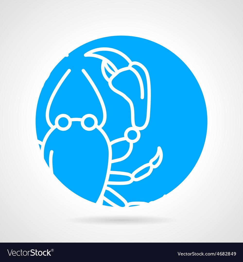 Crayfish round icon