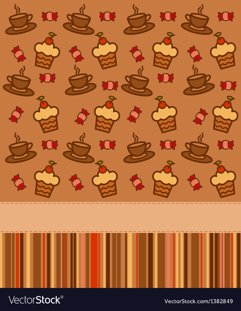 Cupcakes coffee background
