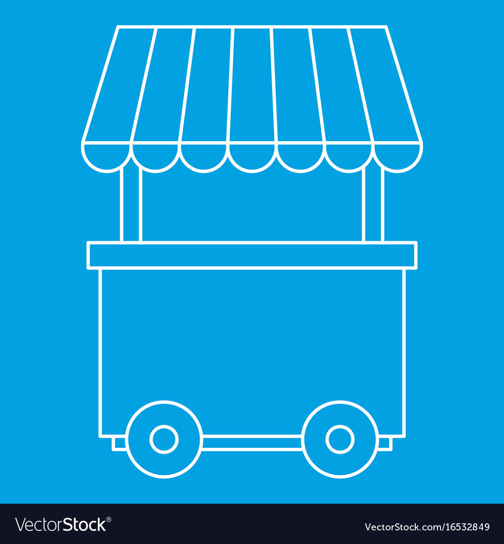 Fast food trolley wheel icon outline style