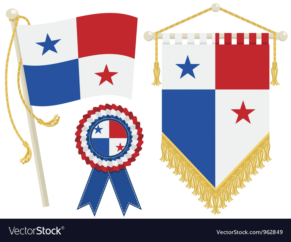 Panama flags vector image