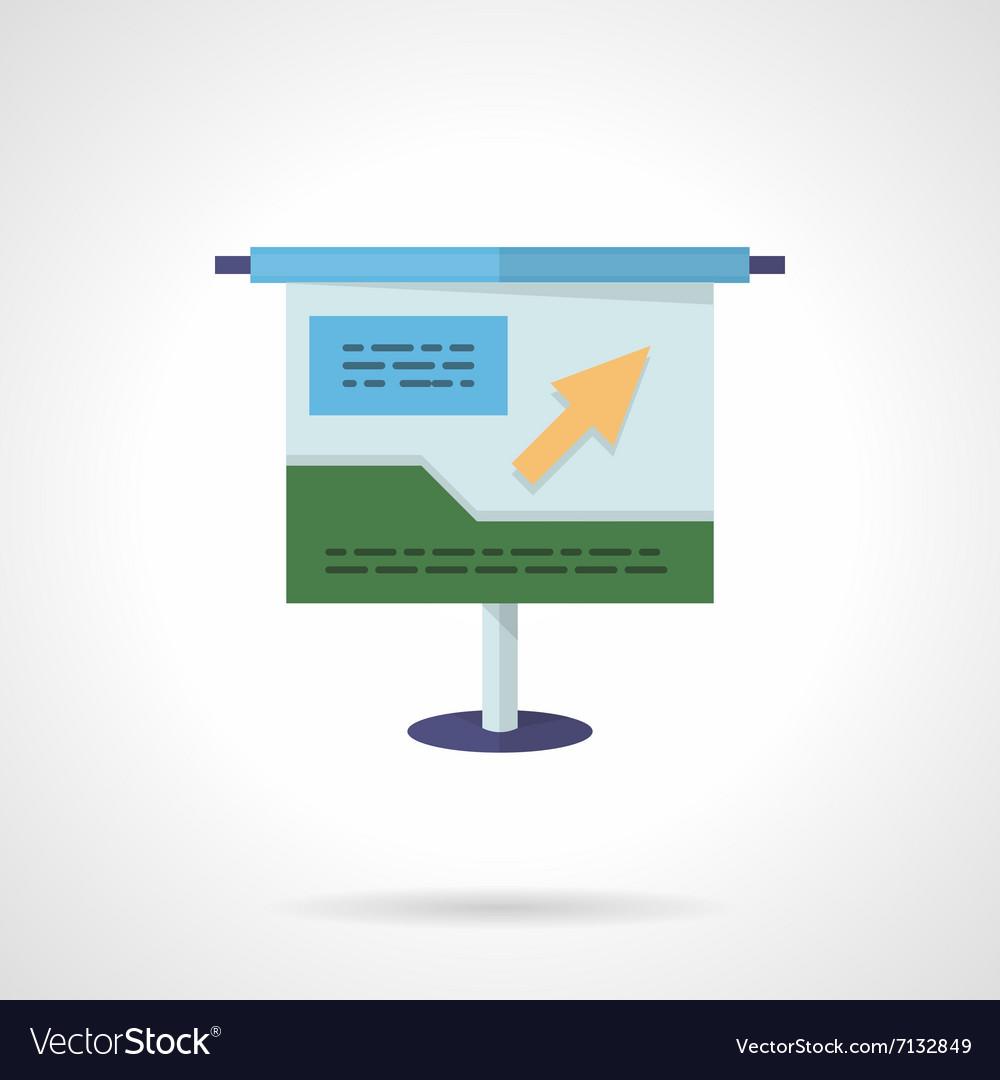 Project presentation flat color icon