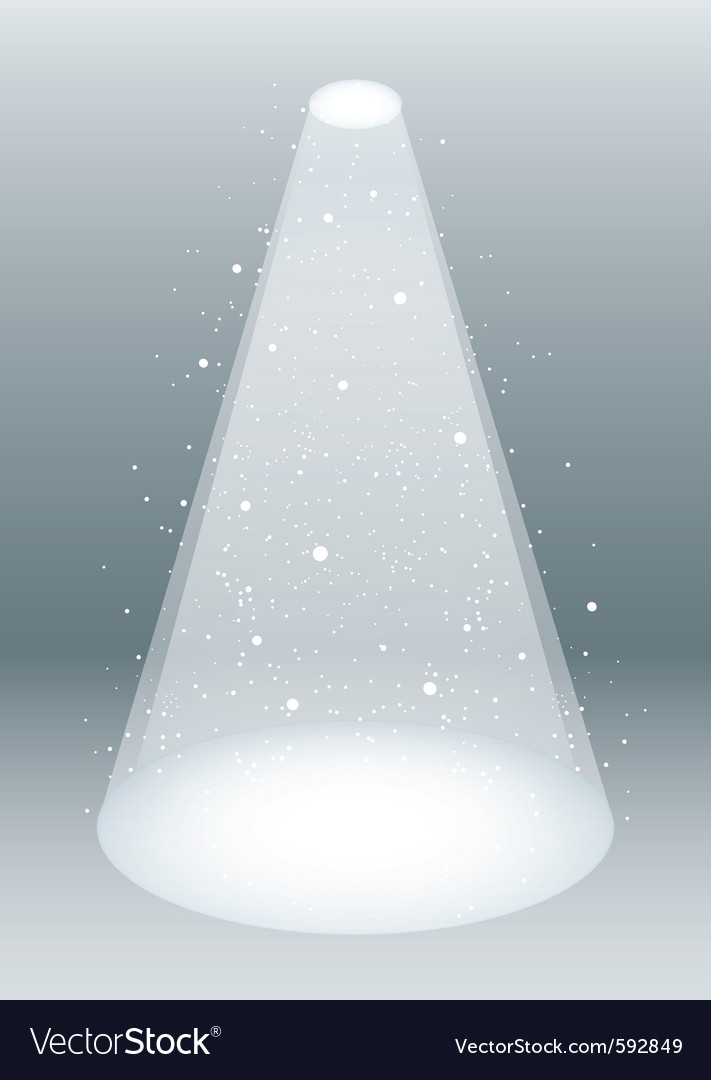 Snow falling in spotlight vector image